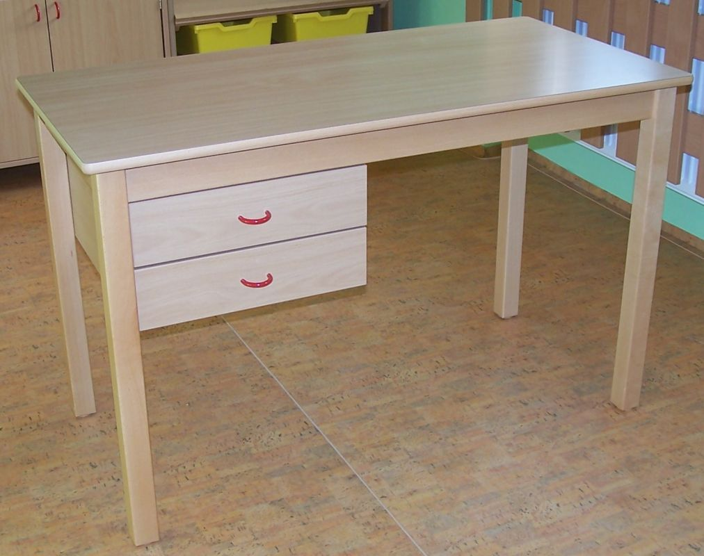 Teacher´s desk, 2 drawers on the left side, formica tabletop