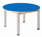Round table Formica diameter 100 cm/ height 36 - 52 cm