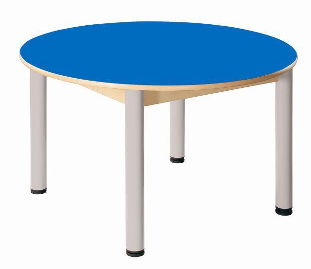 Round table Formica diameter 100 cm/ height 36 - 52 cm