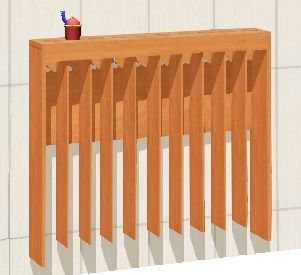 Towel rail for 10 childrens