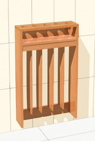 Towel rail for 5 childrens