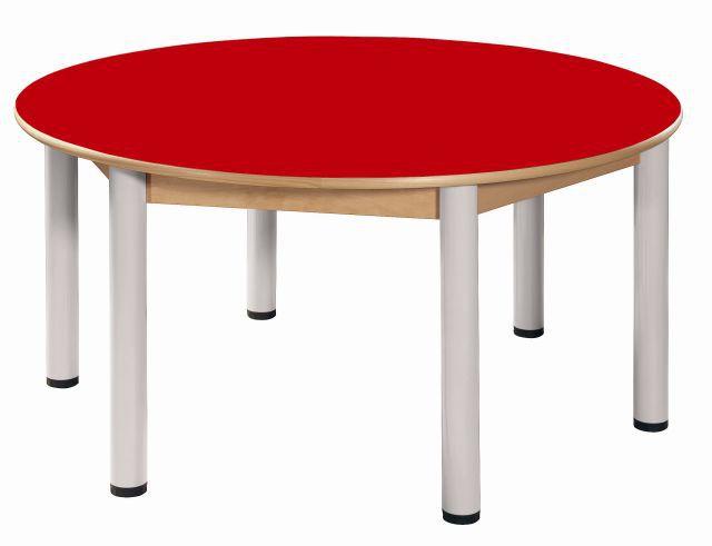 Round table Formica diameter 120 cm/ height 40 - 58 cm