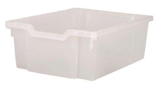 Plastic tray DOUBLE - translucent Gratnells
