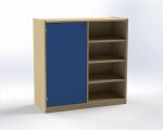 Combined one-door cupboard with 4 shelves, H: 100 cm