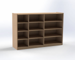 Cupboard for drawers, single-sided, height 100 cm
