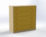 Cupboard with 4 drawers, depth 60 / limete